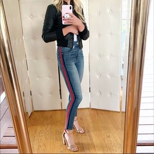 Express Red Stripe Jeans